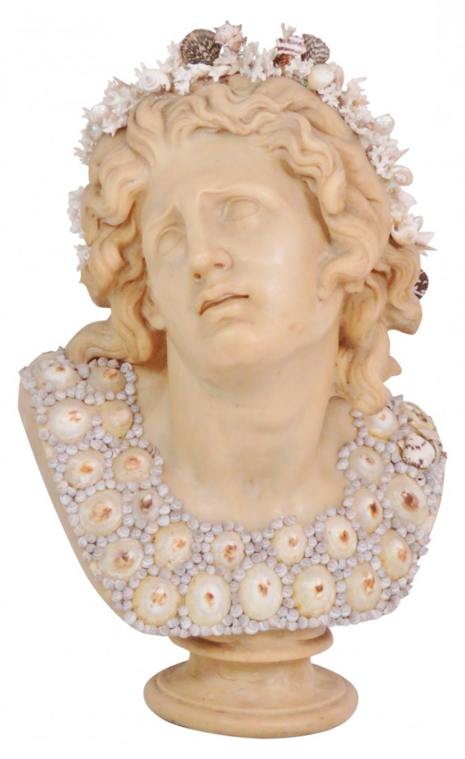 J. ANTHONY REDMILE LARGE SHELL ART BUST