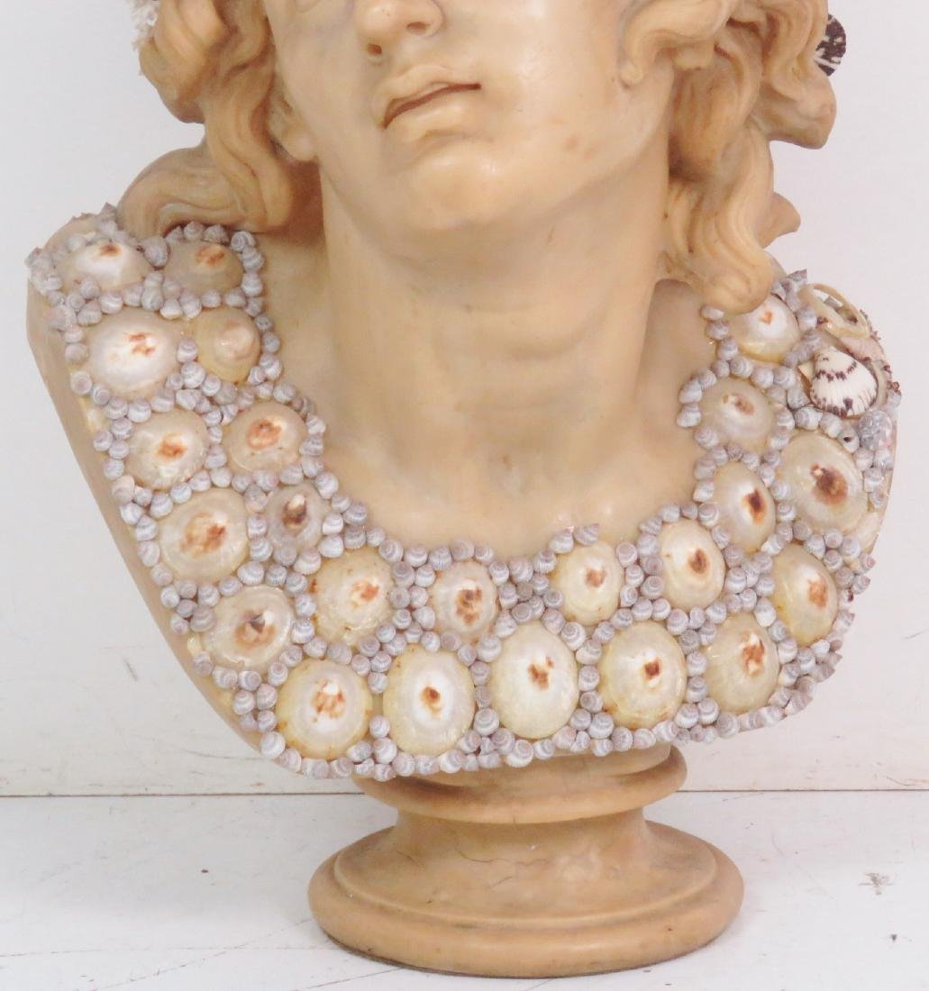 J. ANTHONY REDMILE LARGE SHELL ART BUST - 2