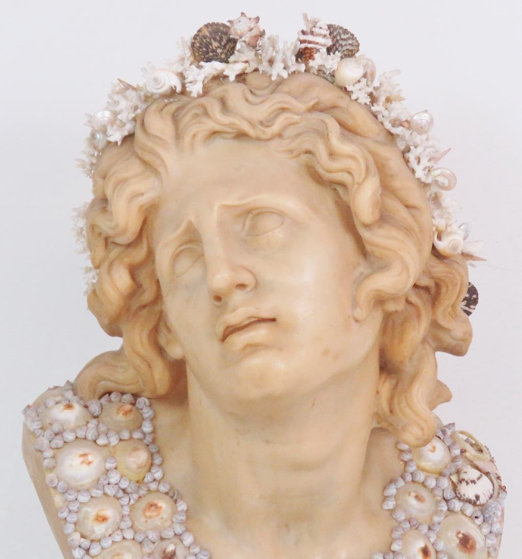 J. ANTHONY REDMILE LARGE SHELL ART BUST - 3