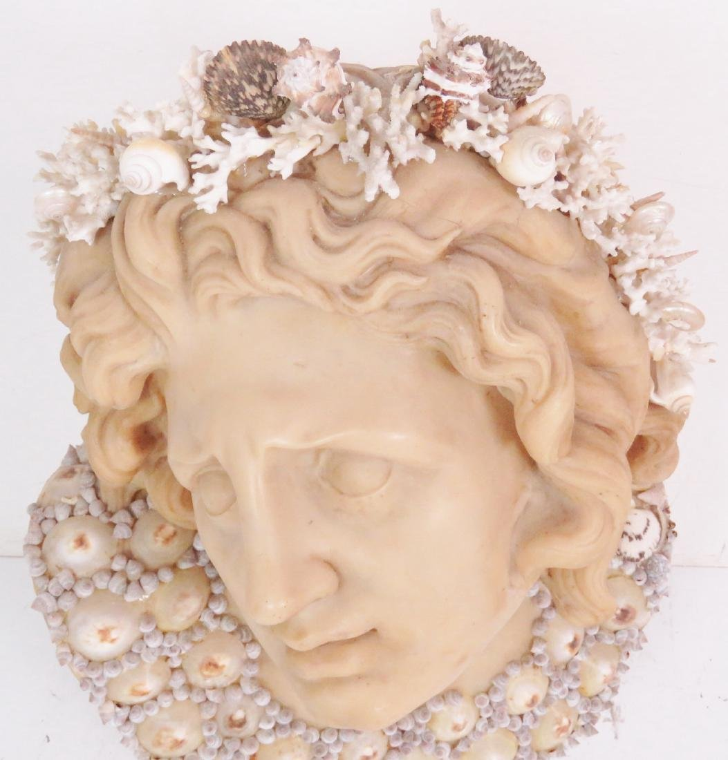 J. ANTHONY REDMILE LARGE SHELL ART BUST - 4