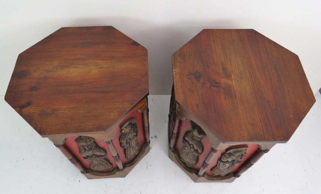 Pair OCTAGONAL END TABLES attr. ADRIAN PEARSALL - 6