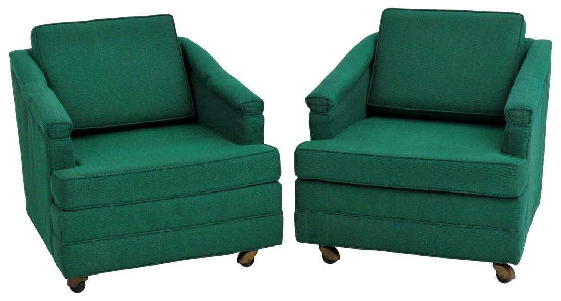 Pair HARVEY PROBBER MODERN LOUNGE CHAIRS