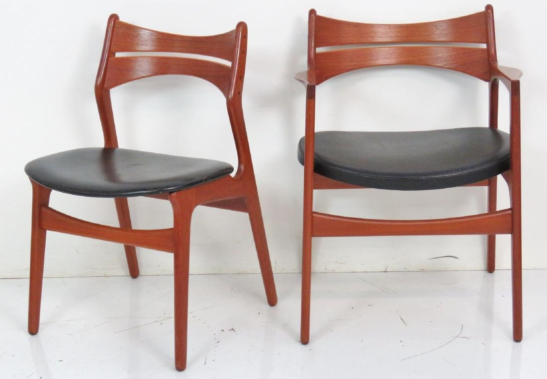 8 ERIC BUCK DANISH MODERN TEAK DINING CHAIRS - 2