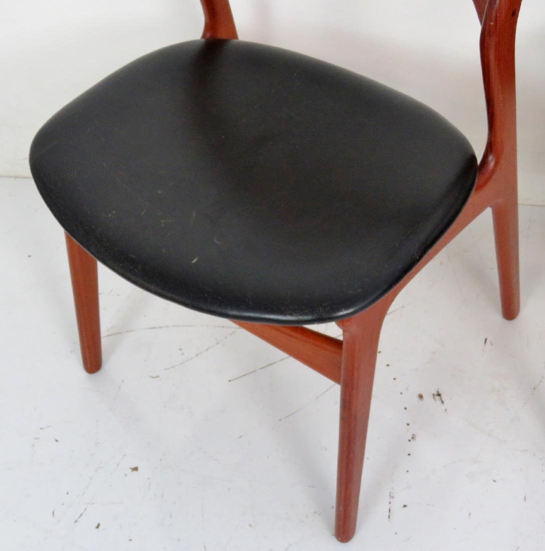 8 ERIC BUCK DANISH MODERN TEAK DINING CHAIRS - 3