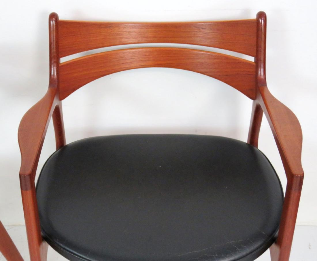 8 ERIC BUCK DANISH MODERN TEAK DINING CHAIRS - 4