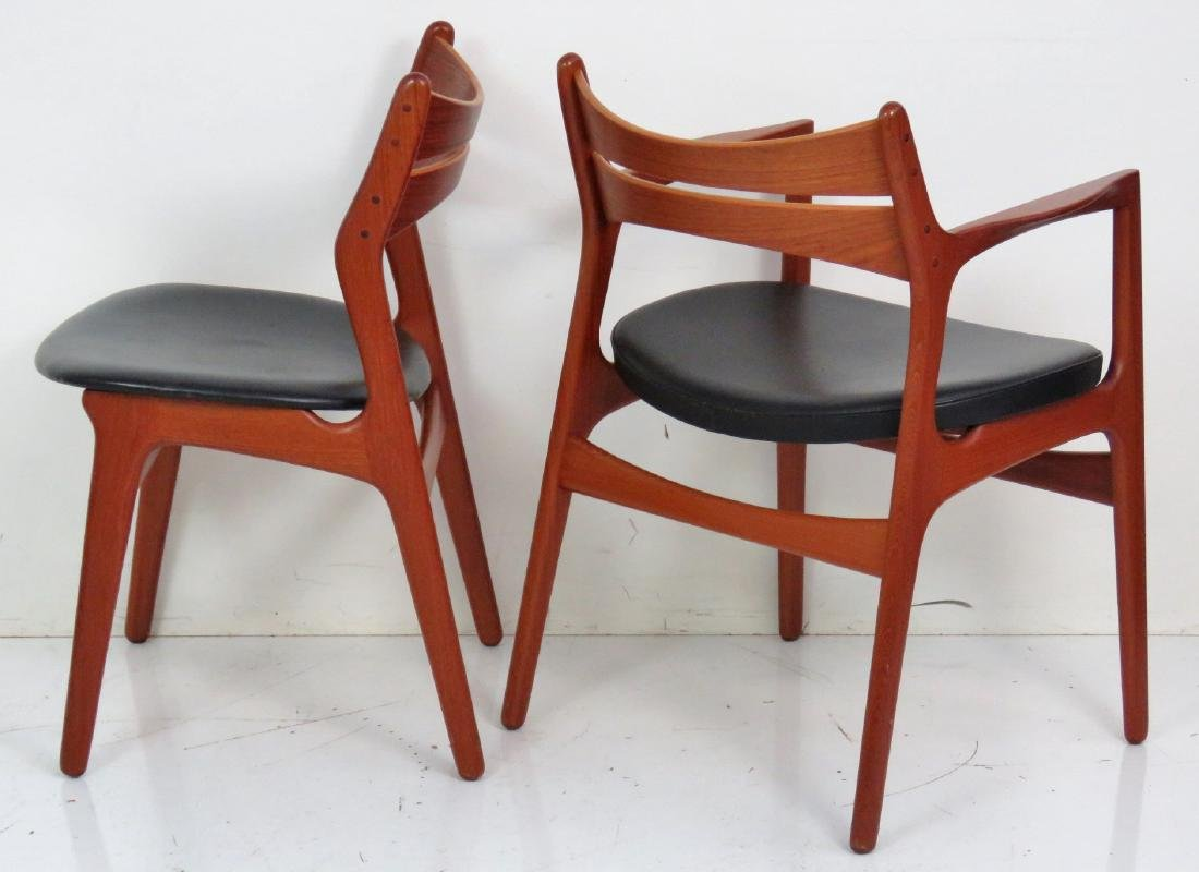 8 ERIC BUCK DANISH MODERN TEAK DINING CHAIRS - 6