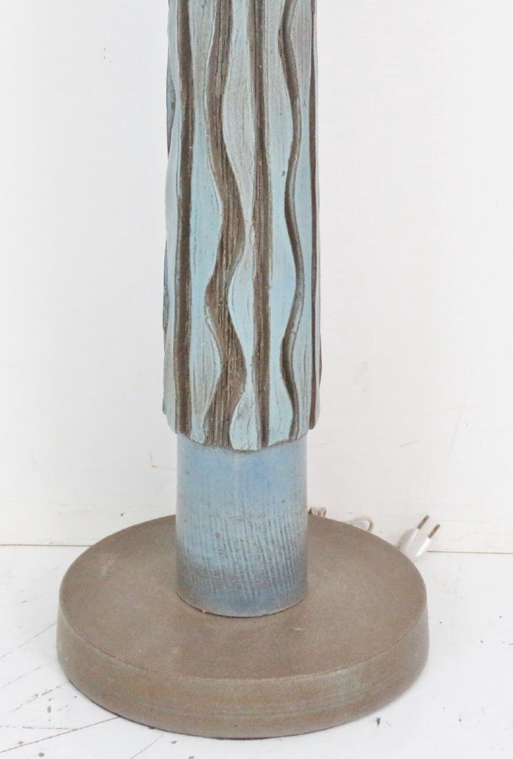 MID CENTURY MODERN POTTERY FLOOR LAMP - 2