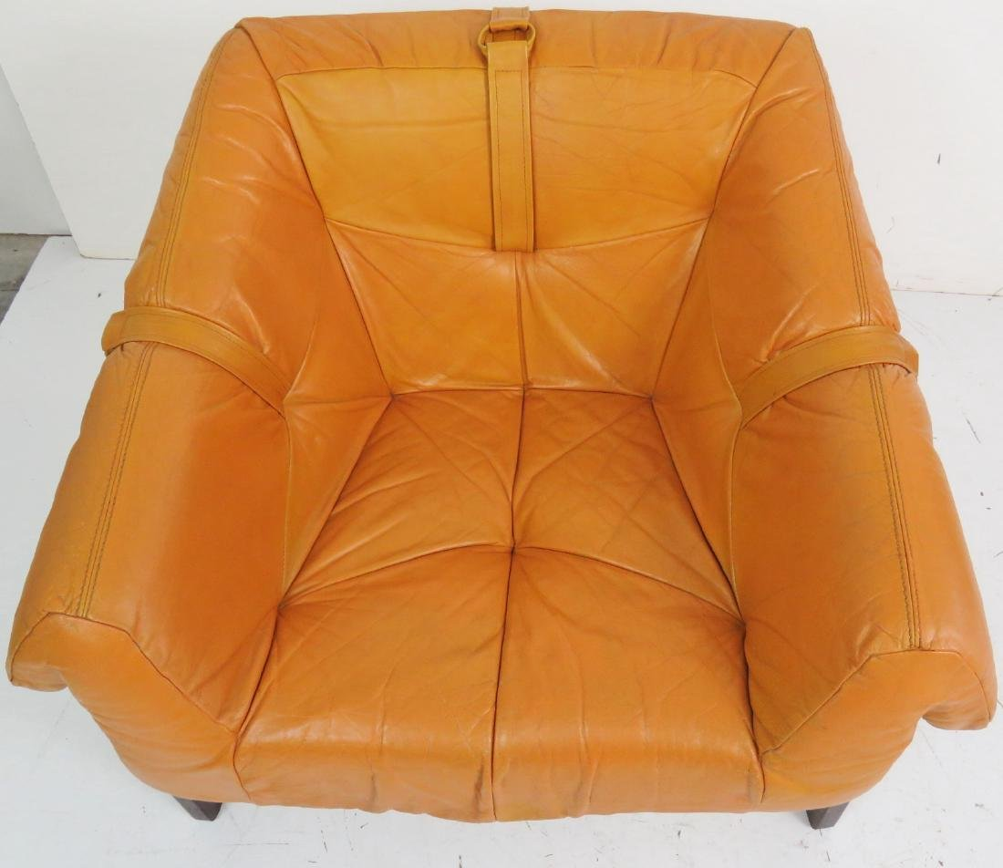 """LAFFER"" BRAZILIAN ROSEWOOD & LEATHER LOUNGE CHAIR - 2"