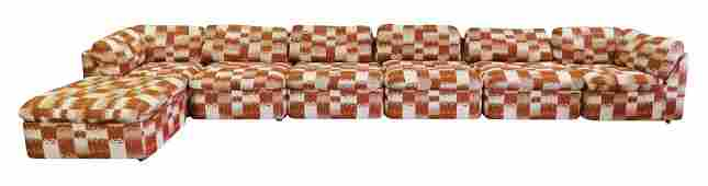 7 pc. ANNEX COLLECTION MID CENTURY MODERN SECTIONAL