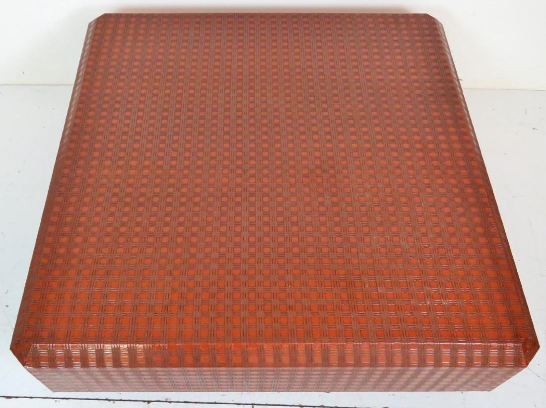 KARL SPRINGER STYLE MID CENTURY MODERN COFFEE TABLE - 4