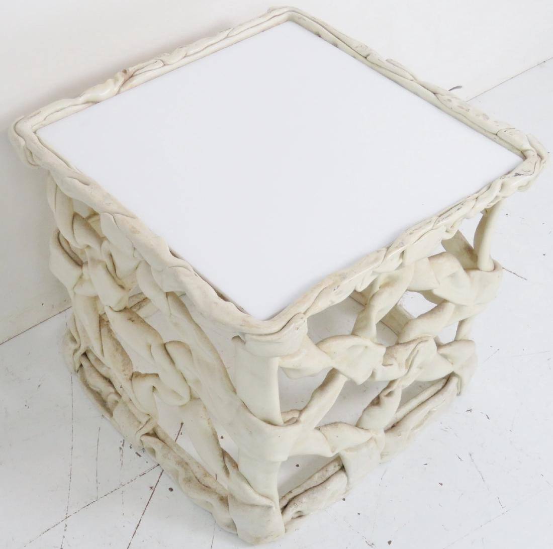 ABSTRACT RIBBON FORM SQUARE TABLE - 4