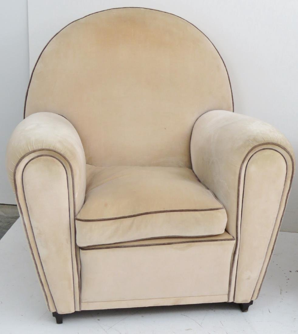 Pair  POLTRONA FRAU ART DECO CLUB CHAIRS - 3