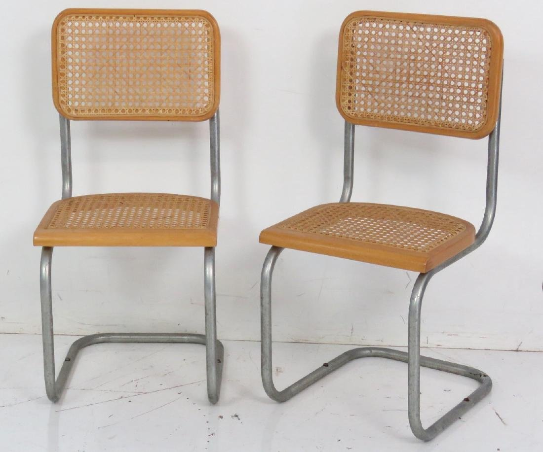 4 CANED & CHROME CHILD'S CHAIRS - 3