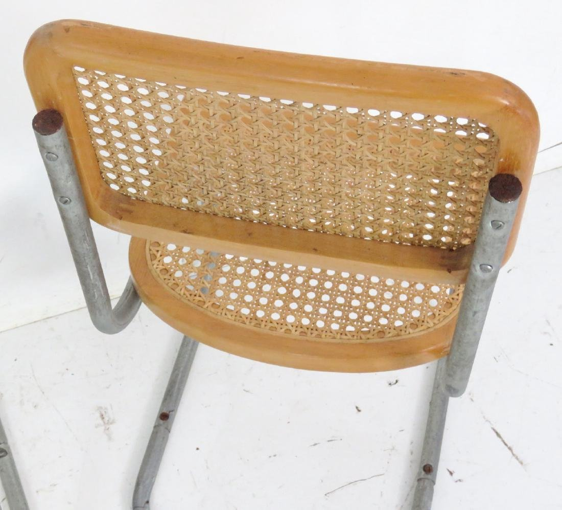 4 CANED & CHROME CHILD'S CHAIRS - 5