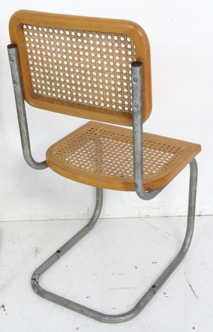 4 CANED & CHROME CHILD'S CHAIRS - 6