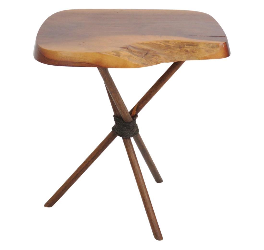 NEW HOPE SCHOOL WALNUT SLAB TABLE