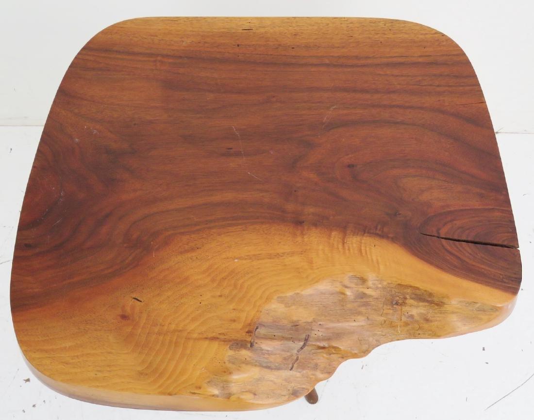 NEW HOPE SCHOOL WALNUT SLAB TABLE - 3