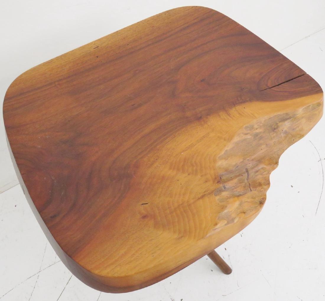NEW HOPE SCHOOL WALNUT SLAB TABLE - 4