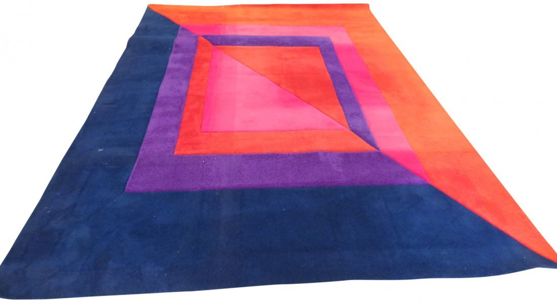 MODERN DESIGN MULTI COLORED RUG