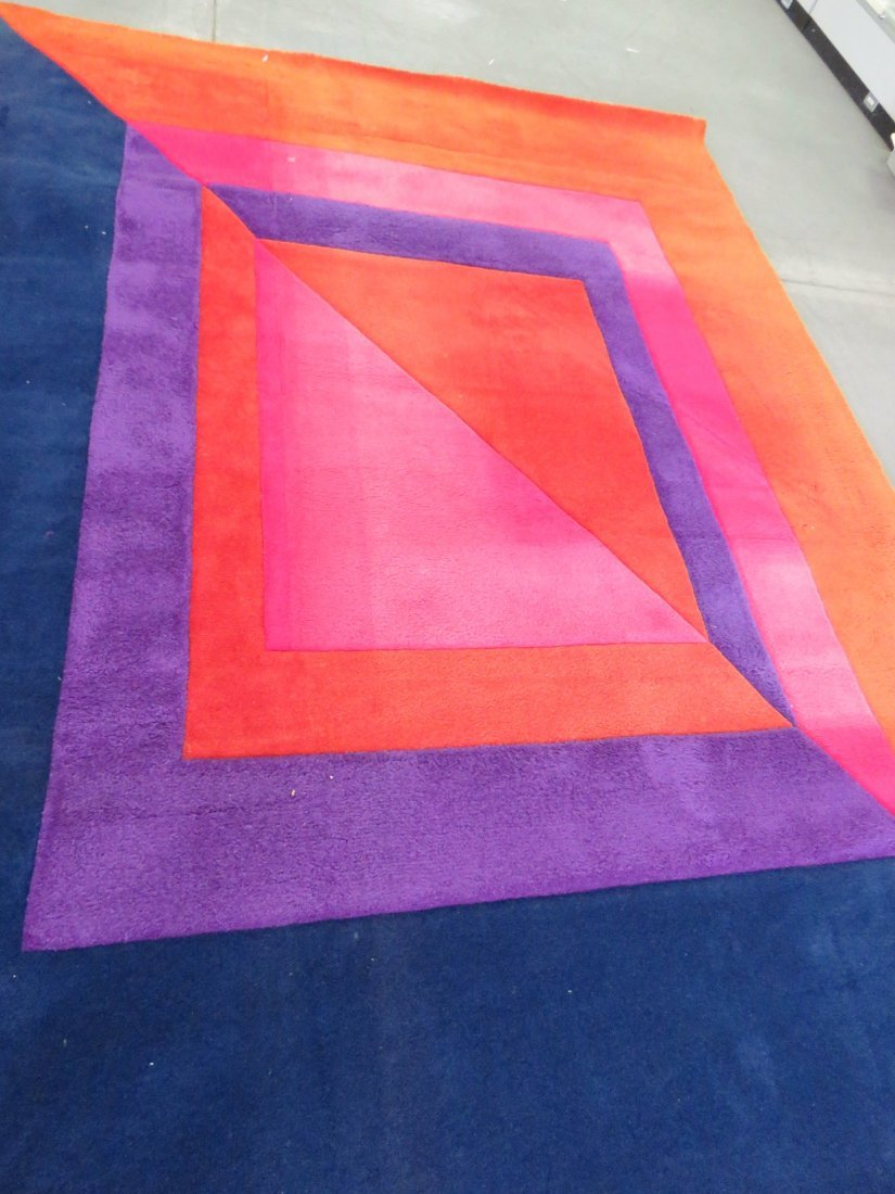 MODERN DESIGN MULTI COLORED RUG - 3