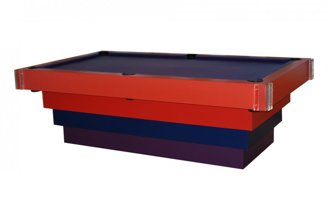 MODERN DESIGN STACKED & LUCITE POOL TABLE