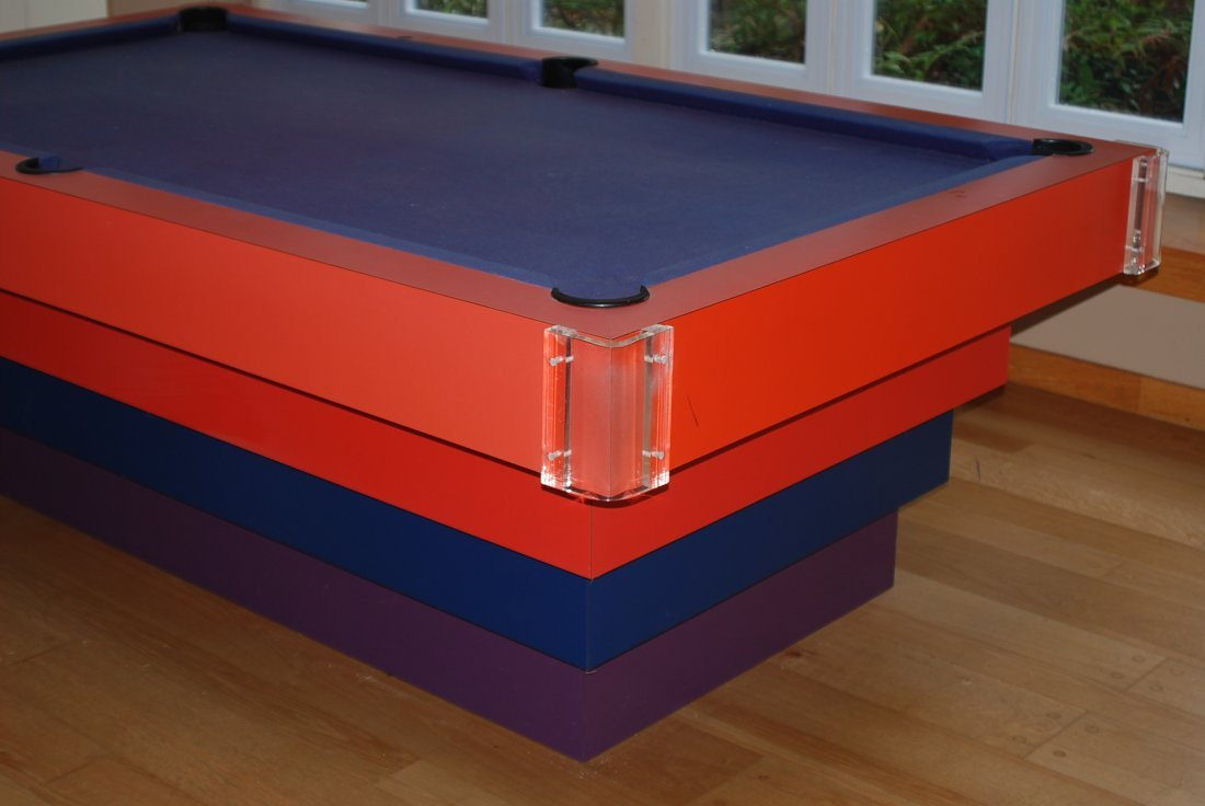 MODERN DESIGN STACKED & LUCITE POOL TABLE - 2