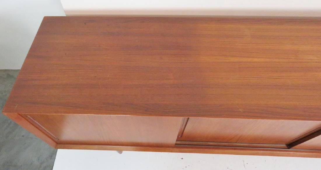 DANISH MODERN TEAK SLIDING DOOR SIDEBOARD - 4