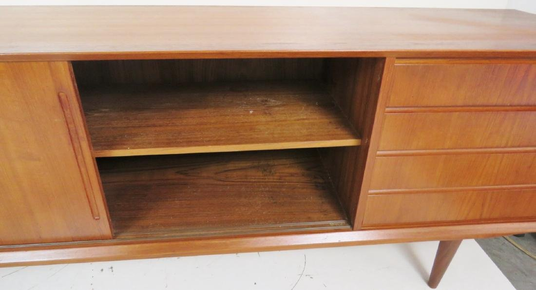 DANISH MODERN TEAK SLIDING DOOR SIDEBOARD - 5