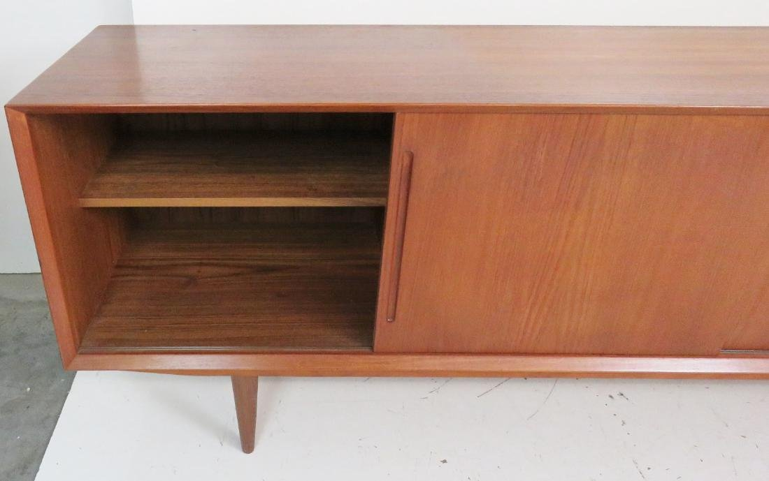 DANISH MODERN TEAK SLIDING DOOR SIDEBOARD - 6