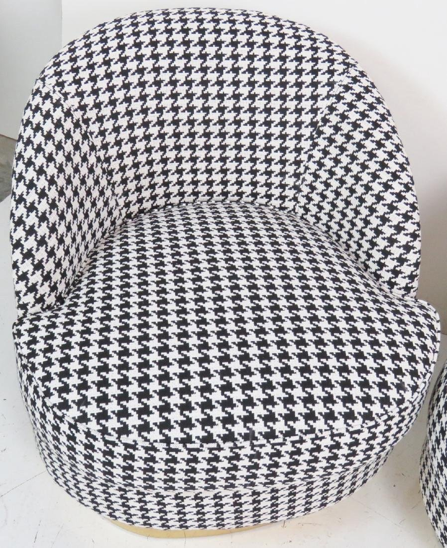 Pair HOUNDSTOOTH CLUB CHAIRS - 4