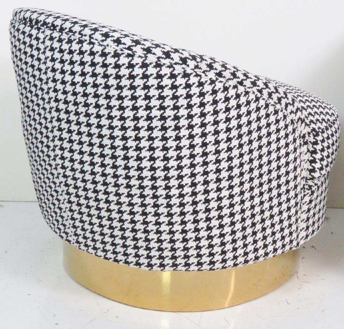 Pair HOUNDSTOOTH CLUB CHAIRS - 5