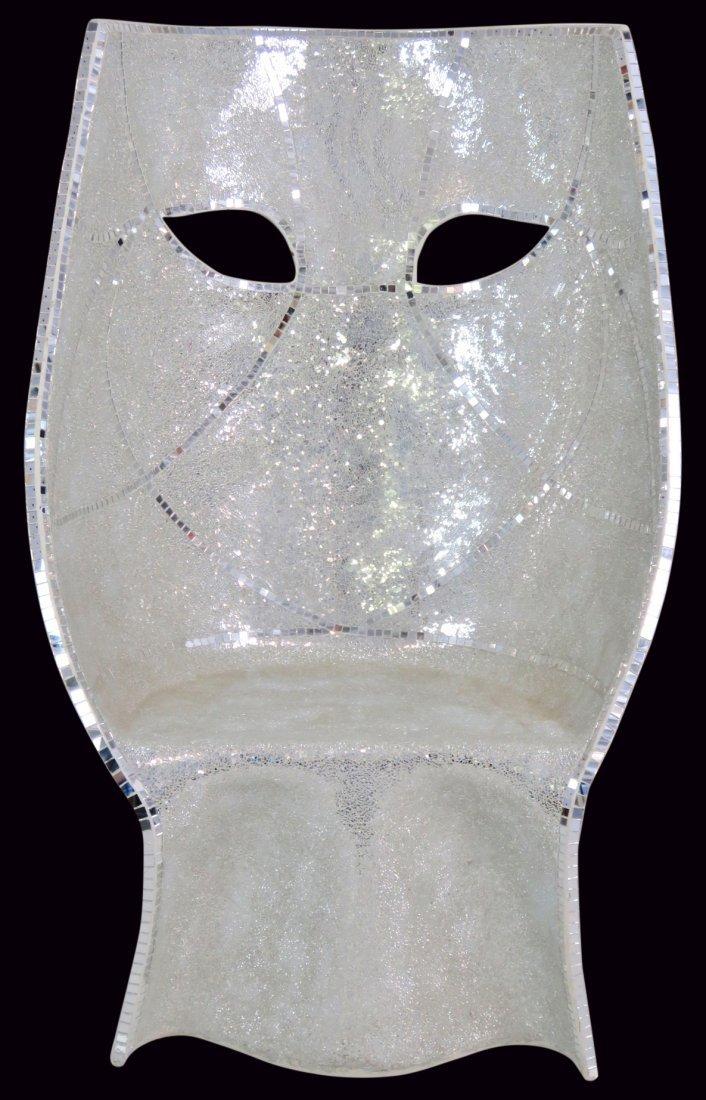 MIRRORED MOSAIC FACE CHAIR - 4