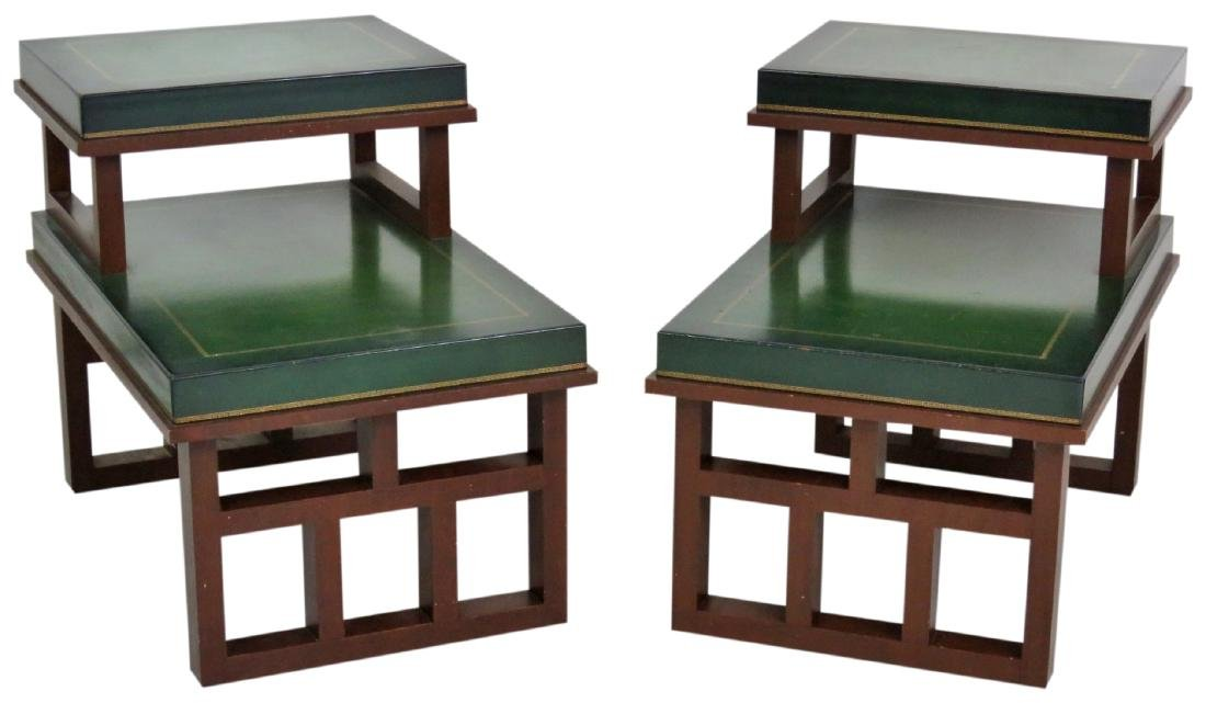 Pair PARZINGER STYLE ART MODERN END TABLES