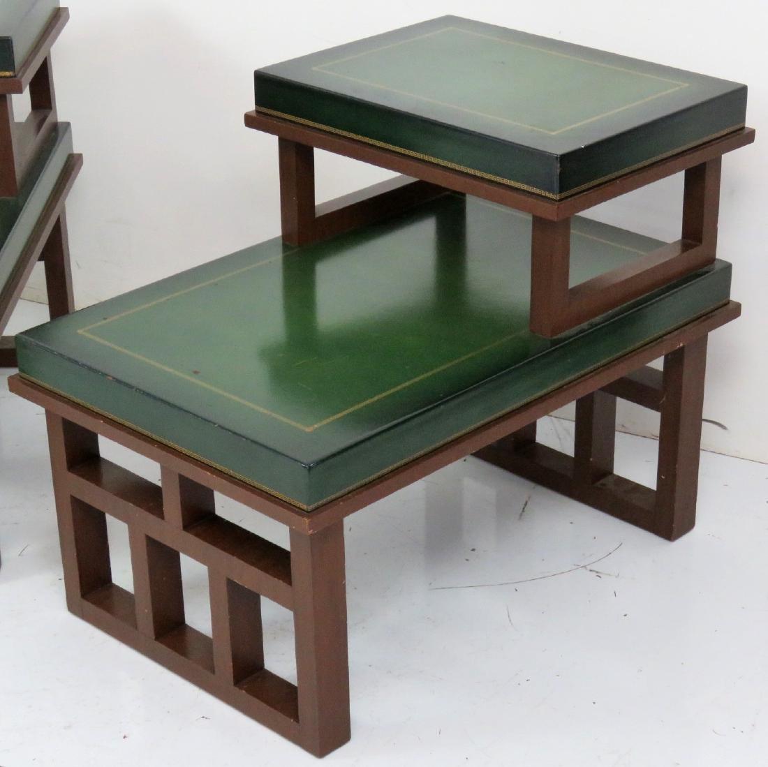 Pair PARZINGER STYLE ART MODERN END TABLES - 2