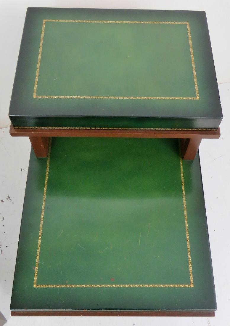 Pair PARZINGER STYLE ART MODERN END TABLES - 3