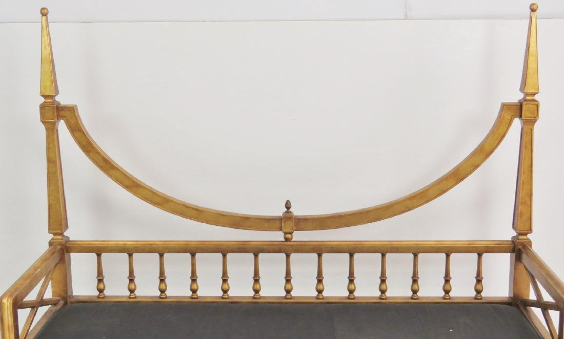 TOMMY PARZINGER STYLE GILT CARVED WINDOW BENCH - 4