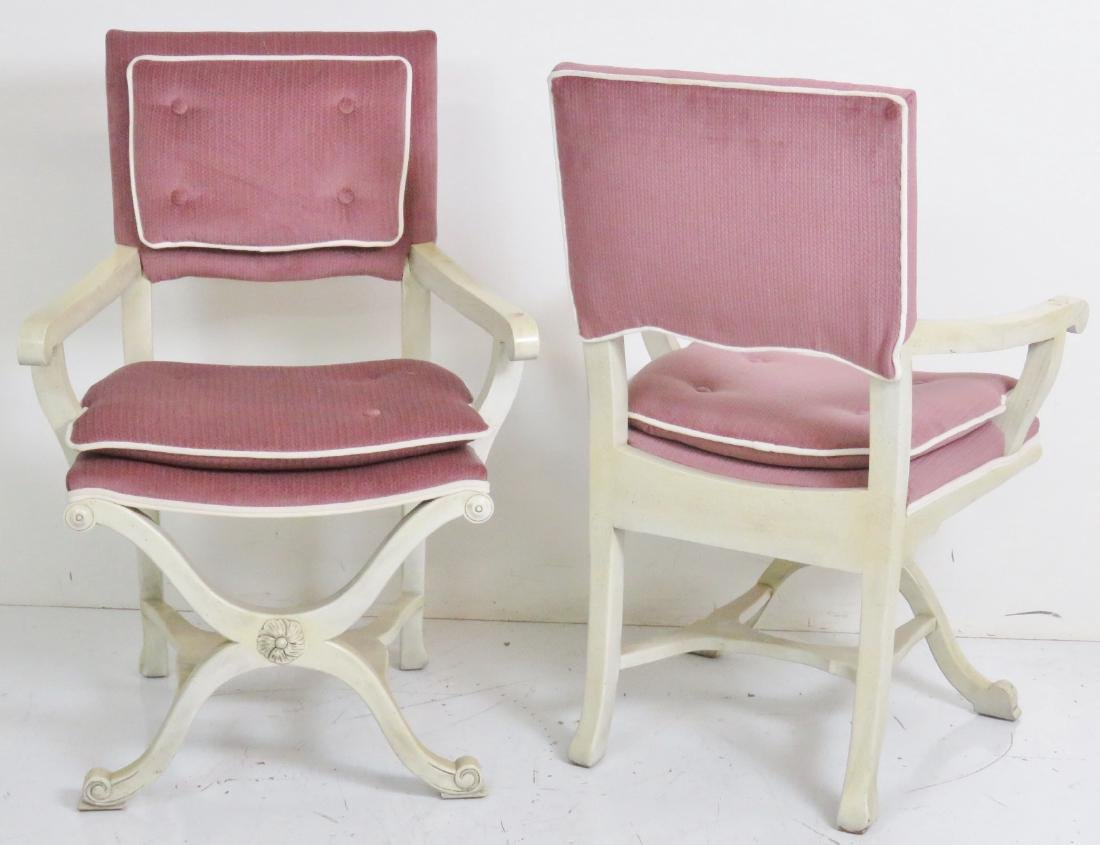Pair GROSFELD HOUSE STYLE X-CHAIRS - 5