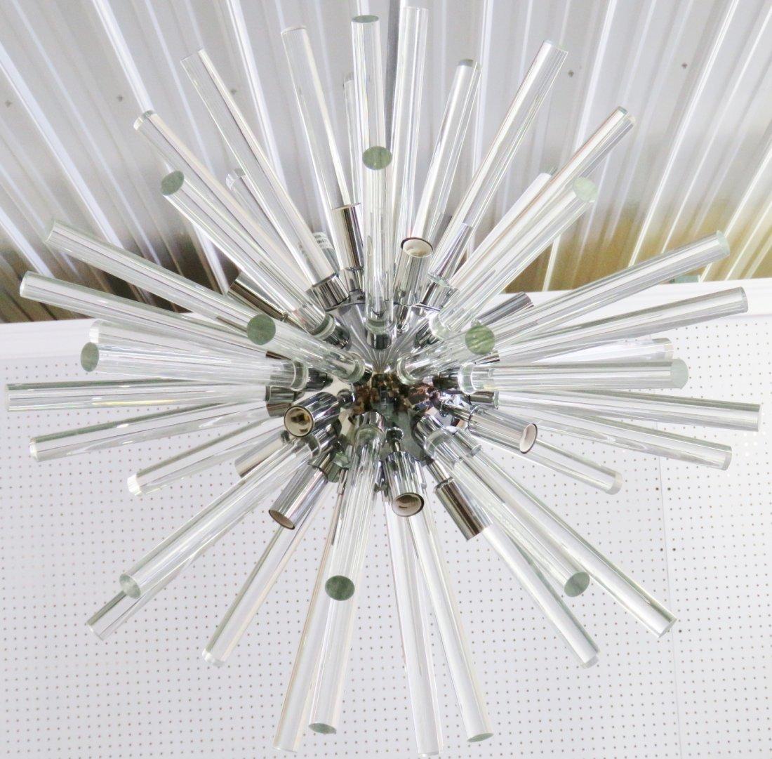 SPUTNIK CHROME & GLASS CHANDELIER - 2