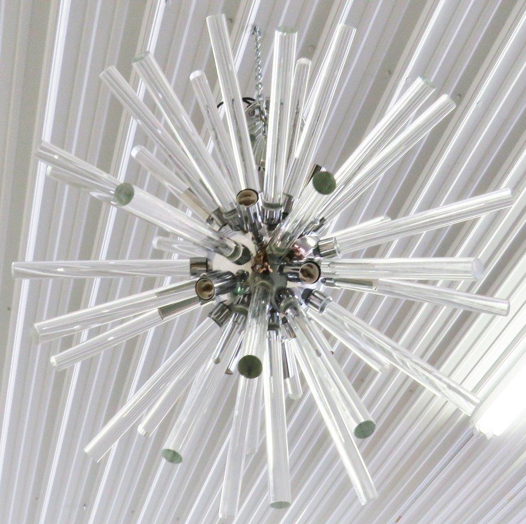 SPUTNIK CHROME & GLASS CHANDELIER - 5