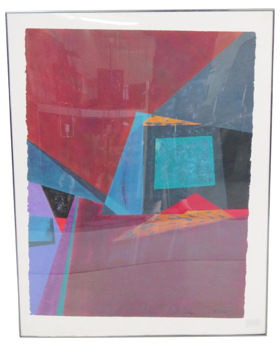 """BETENSKY ABSTRACT ACRYLIC PAINTING """"PORTALS & PASSAGES"""""""