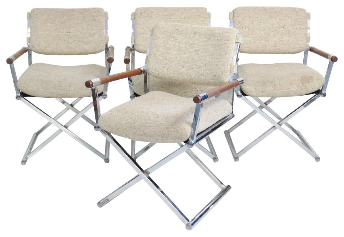 4 MILO BAUGHMAN STYLE DIRECTOR'S CHAIRS