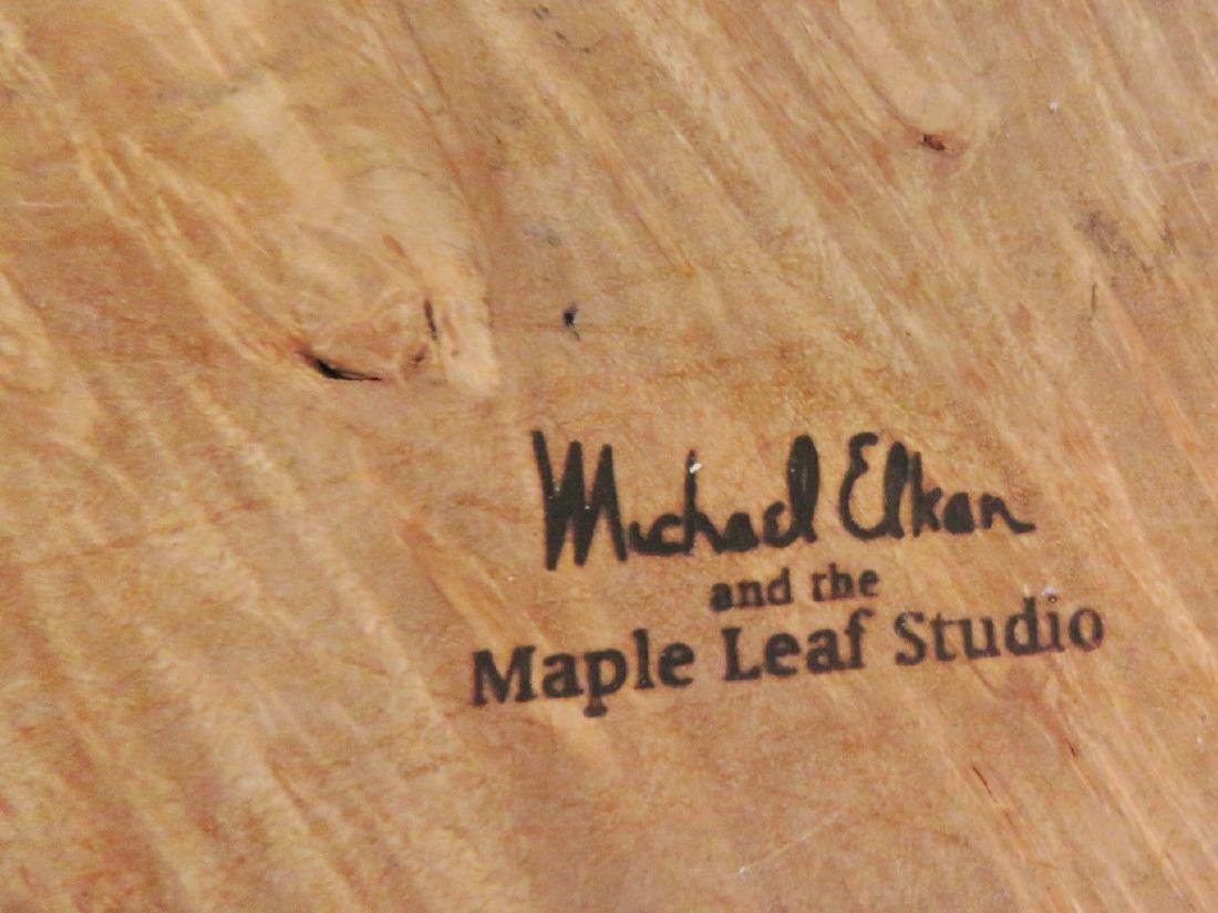 MICHAEL ELKAN MAPLE LEAF STUDIO BURL BOX - 5