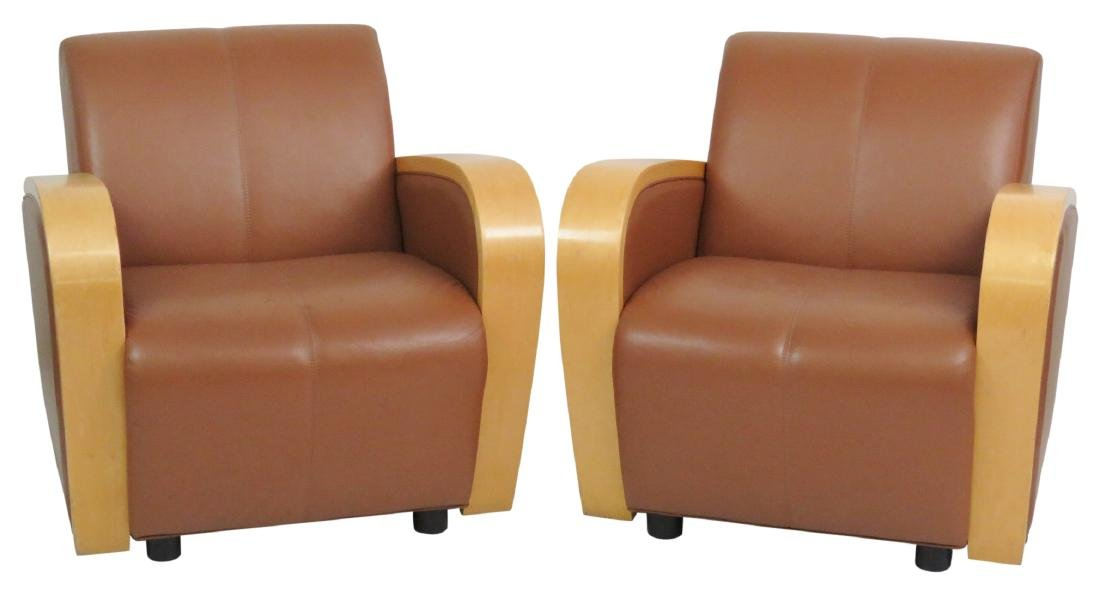 Pair ART DECO STYLE CLUB CHAIRS