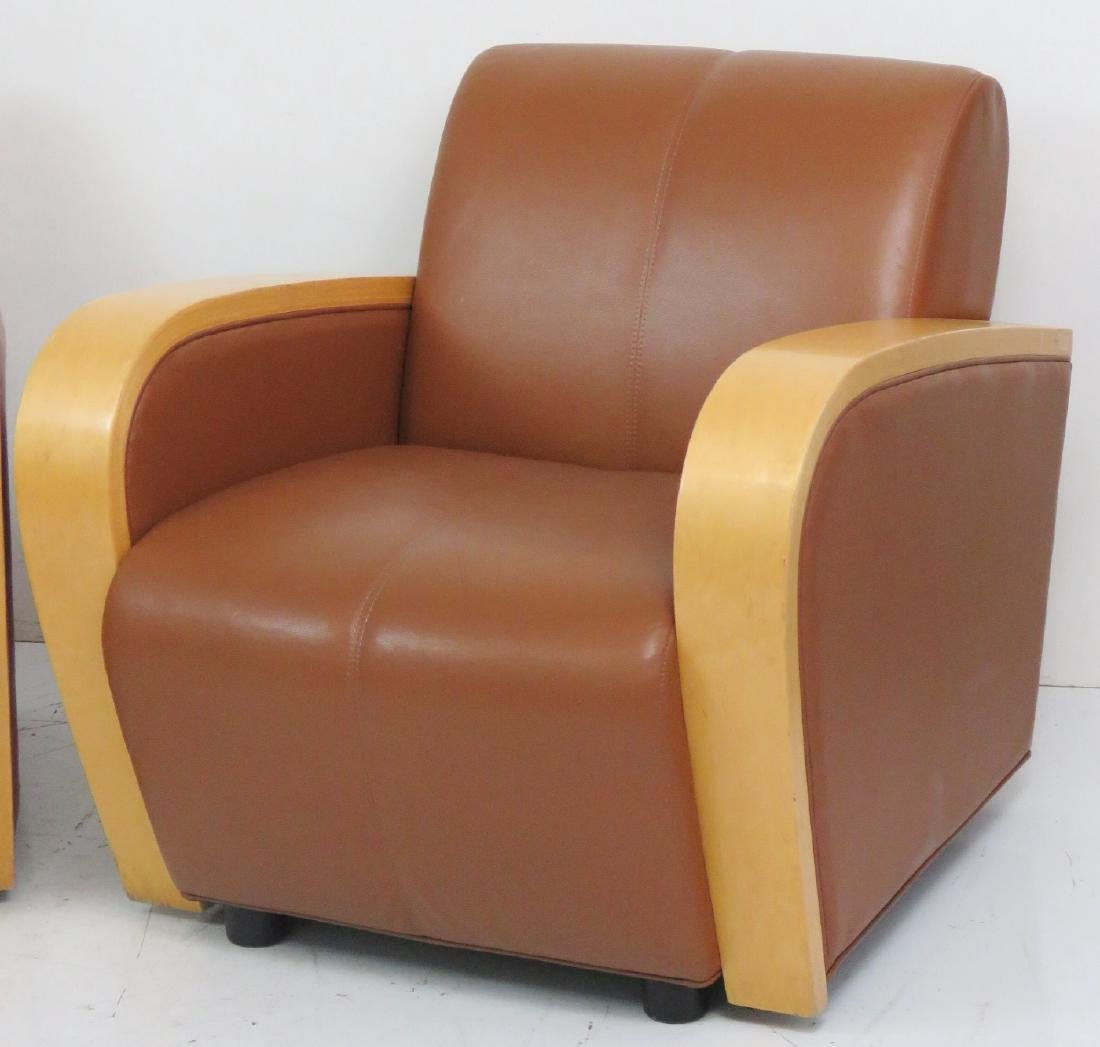 Pair ART DECO STYLE CLUB CHAIRS - 2