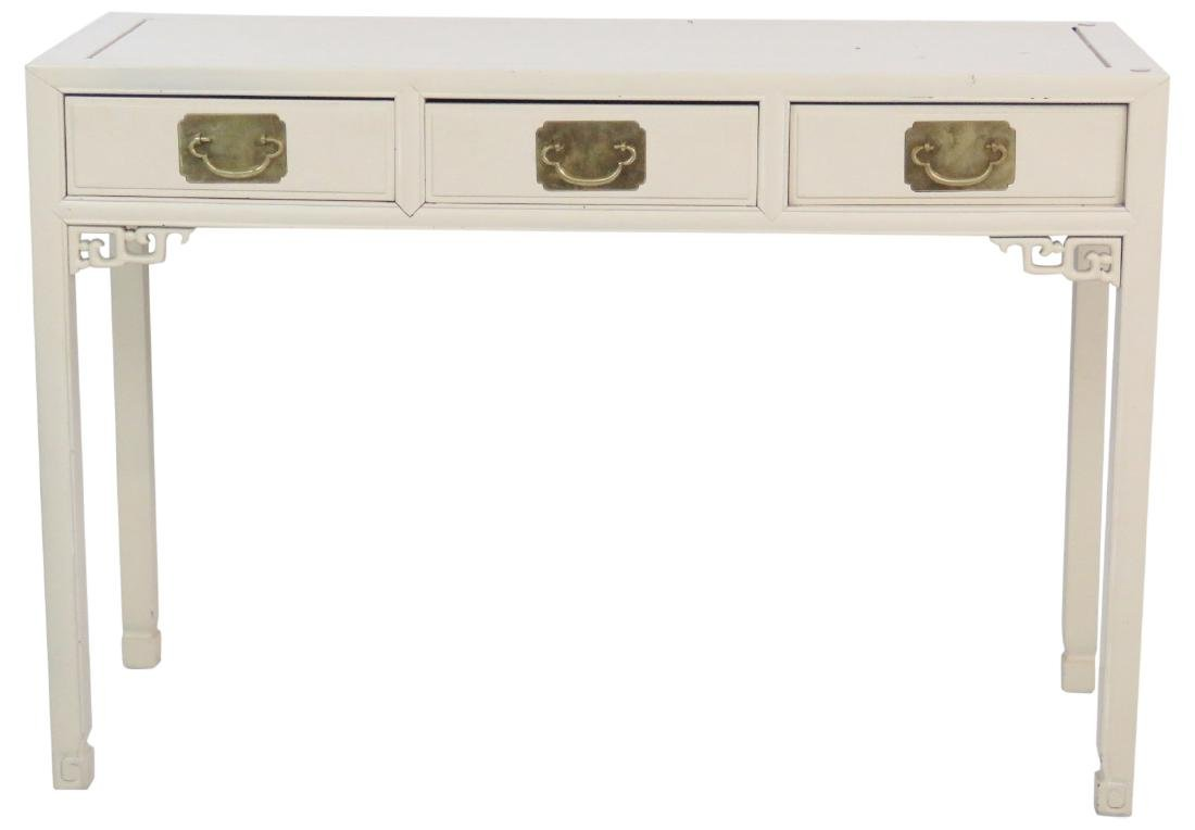 ASIAN STYLE CREAM PAINTED CONSOLE TABLE