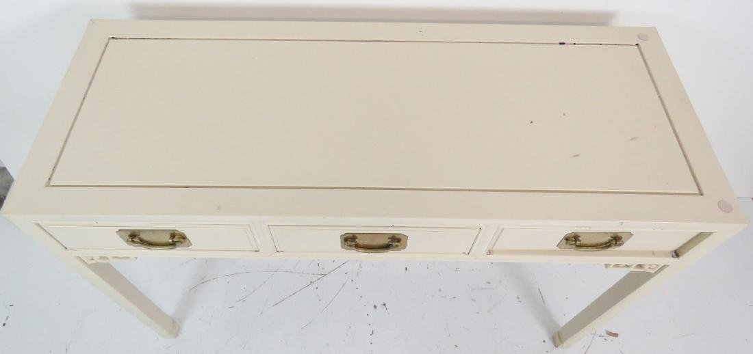 ASIAN STYLE CREAM PAINTED CONSOLE TABLE - 3