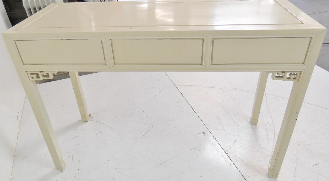 ASIAN STYLE CREAM PAINTED CONSOLE TABLE - 7