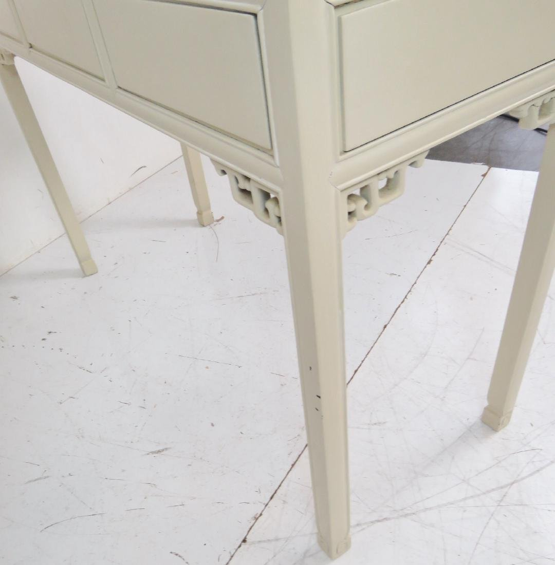 ASIAN STYLE CREAM PAINTED CONSOLE TABLE - 8