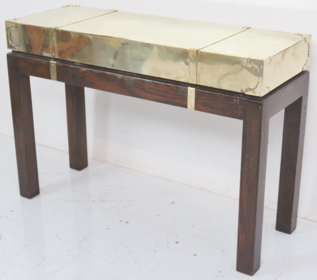 KARL SPRINGER STYLE BRASS CAMPAIGN CONSOLE - 2