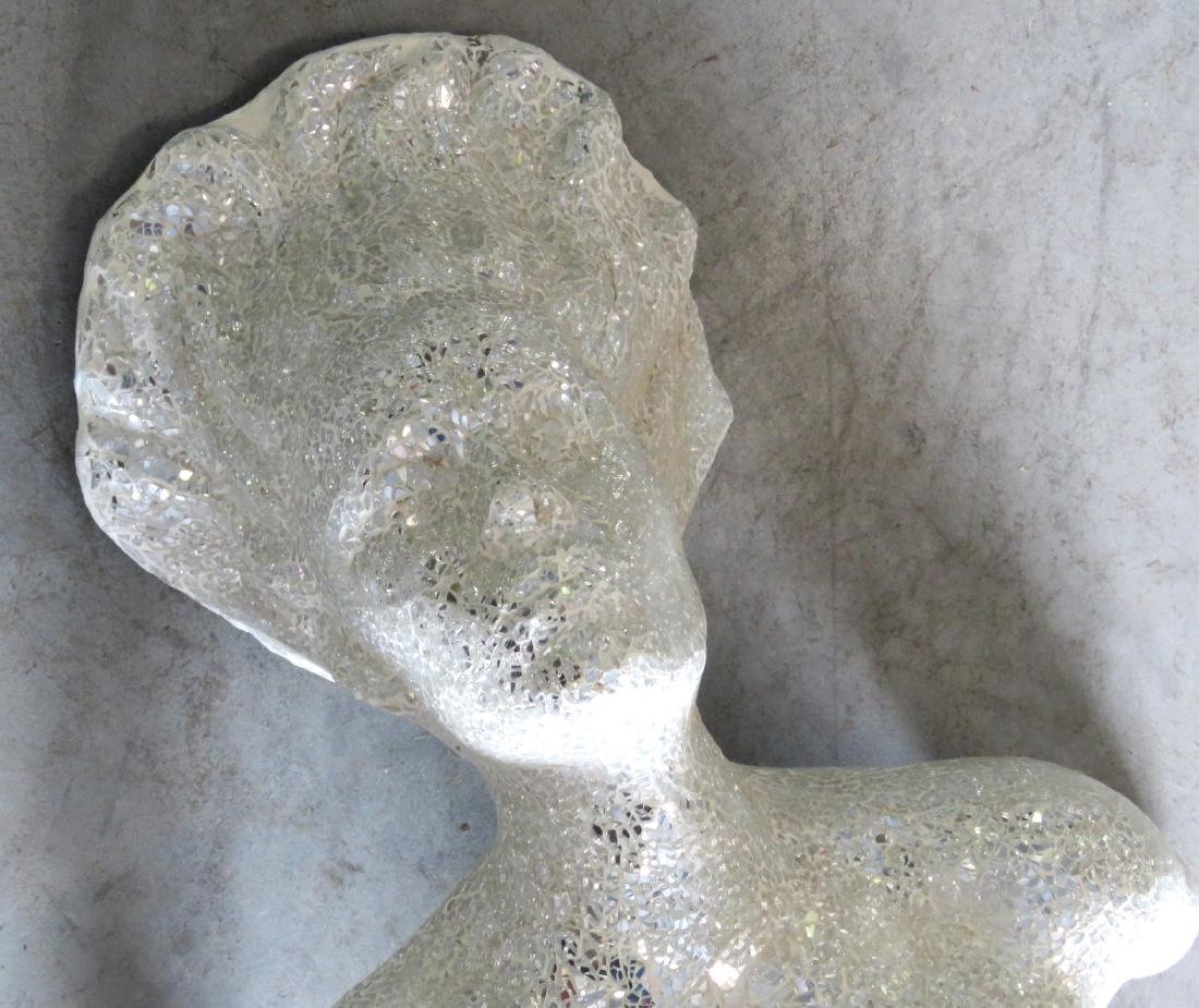 MOSAIC MIRRORED & NUDE WALL SCULPTURE - 5